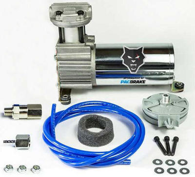 Picture of Pacbrake HP325 Series Basic 12V Air Compressor Kit - Silver